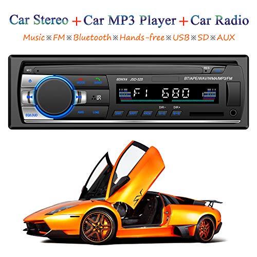 LSLYA Car MP3 / WMA Player Pantalla TFT FM AM Radio Checkmark 4 Altavoces Soporte Video USB / SD / MMC Pantalla ID3 Con Bluetooth Manos libres Llamadas y EQ incorporado + Control remoto + Volante ...